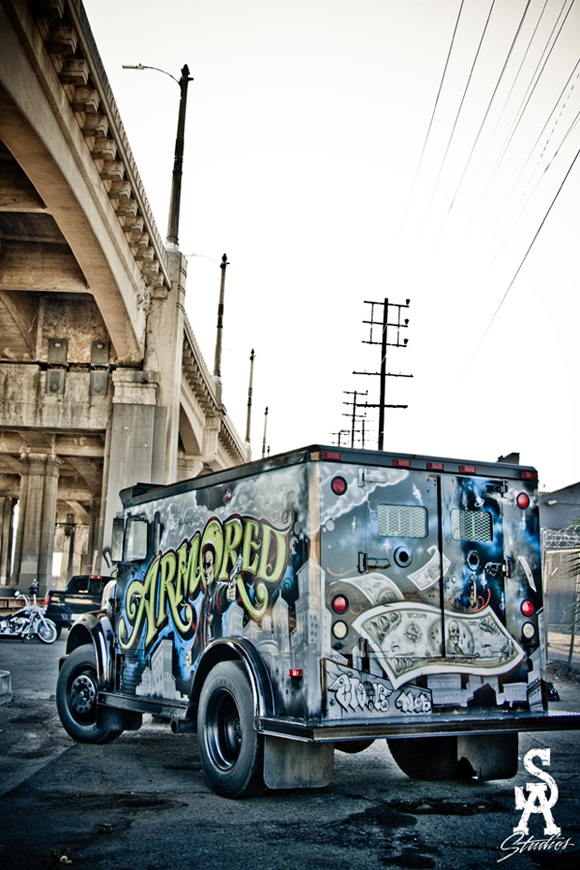 Massive Armored Graffiti Art Truck by Mr Cartoon