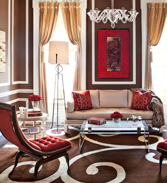 The bold and the beautiful pantone color for spring Red accents for living room