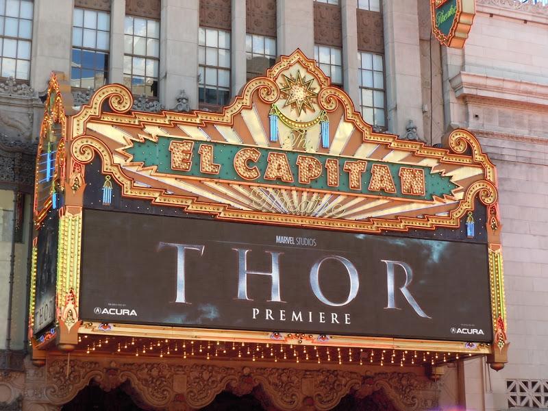 Thor premiere El Capitan