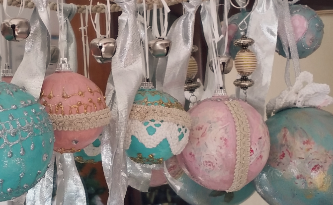 Diva diy tutorial decorazioni di natale fai da te in for Decorazioni shabby chic fai da te