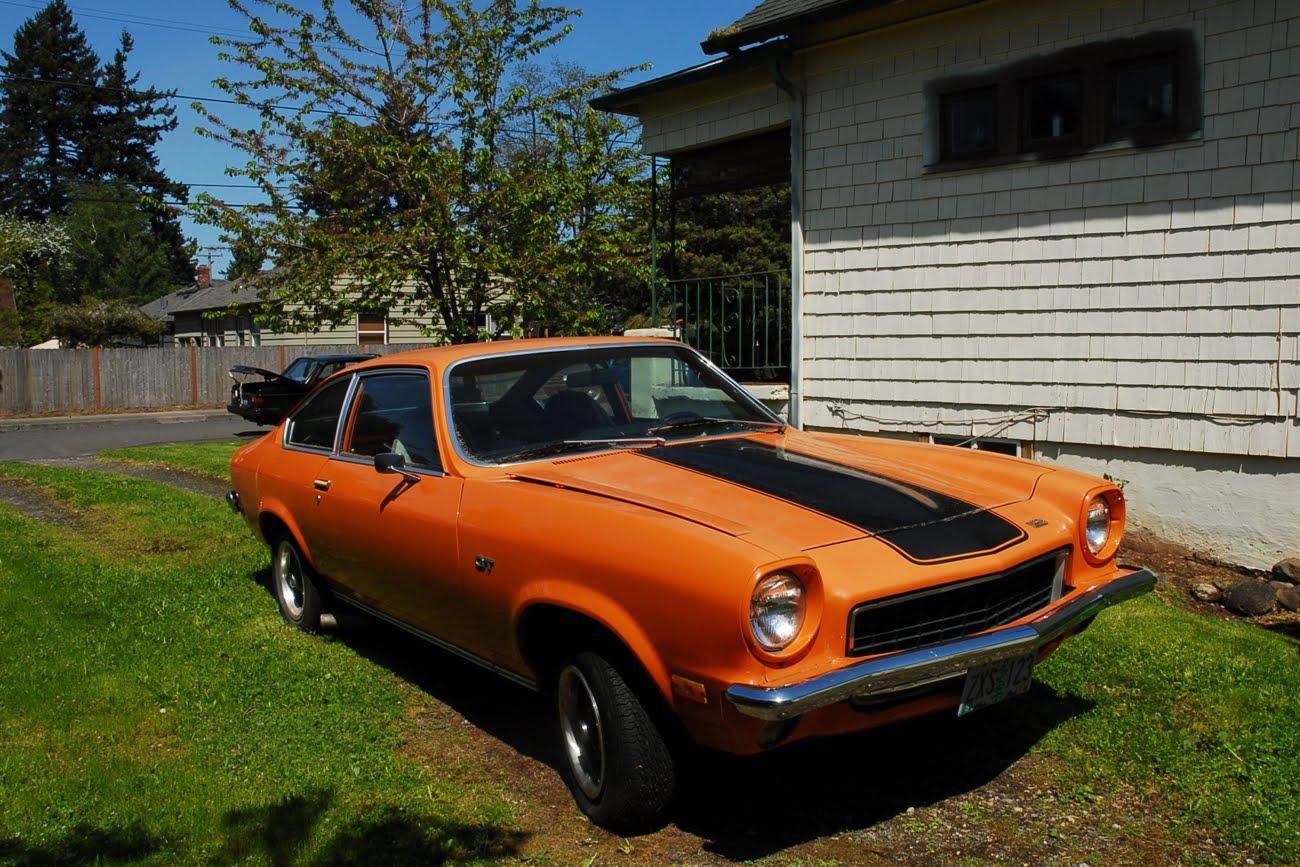 OLD PARKED CARS.: 1973 Chevrolet Millionth Vega GT.