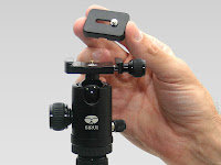 The Sirui tripod comes with a ballhead that accept a standard quick release plate.