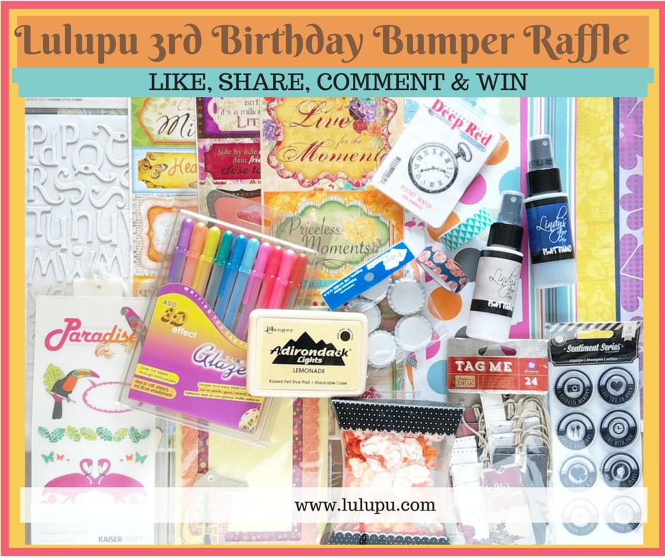 Lulupu's 3rd Birthday Bumper Raffle