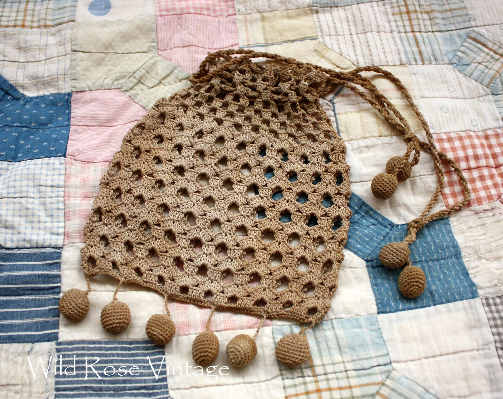 Wild Rose Vintage: Vintage Crochet Bag