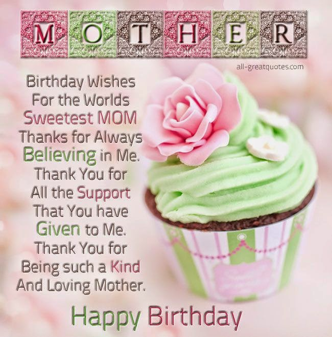 Cool and Cool Birthday Wishes Mother – Birthday Greetings for a Mother