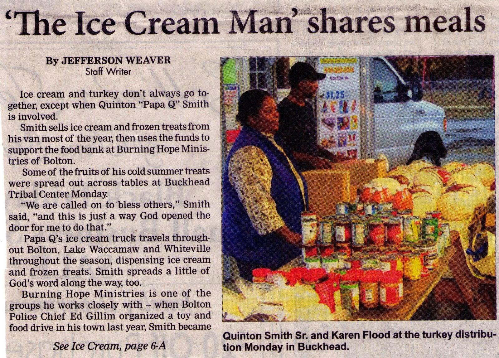 Ice Cream Man Shares Meals