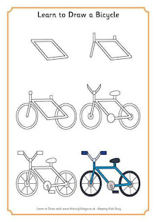 Cara Menggambar Sepeda