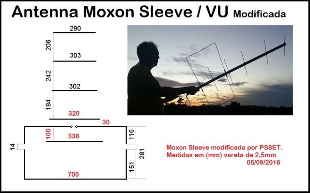Antena Moxon Sleeve VU para Satellite