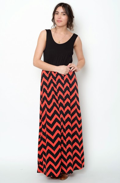 Chevron maxi dress