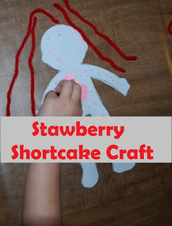 craft, preschoolers, toddlers, strawberry shortcake, easy craft, cheap craft, craft based on books