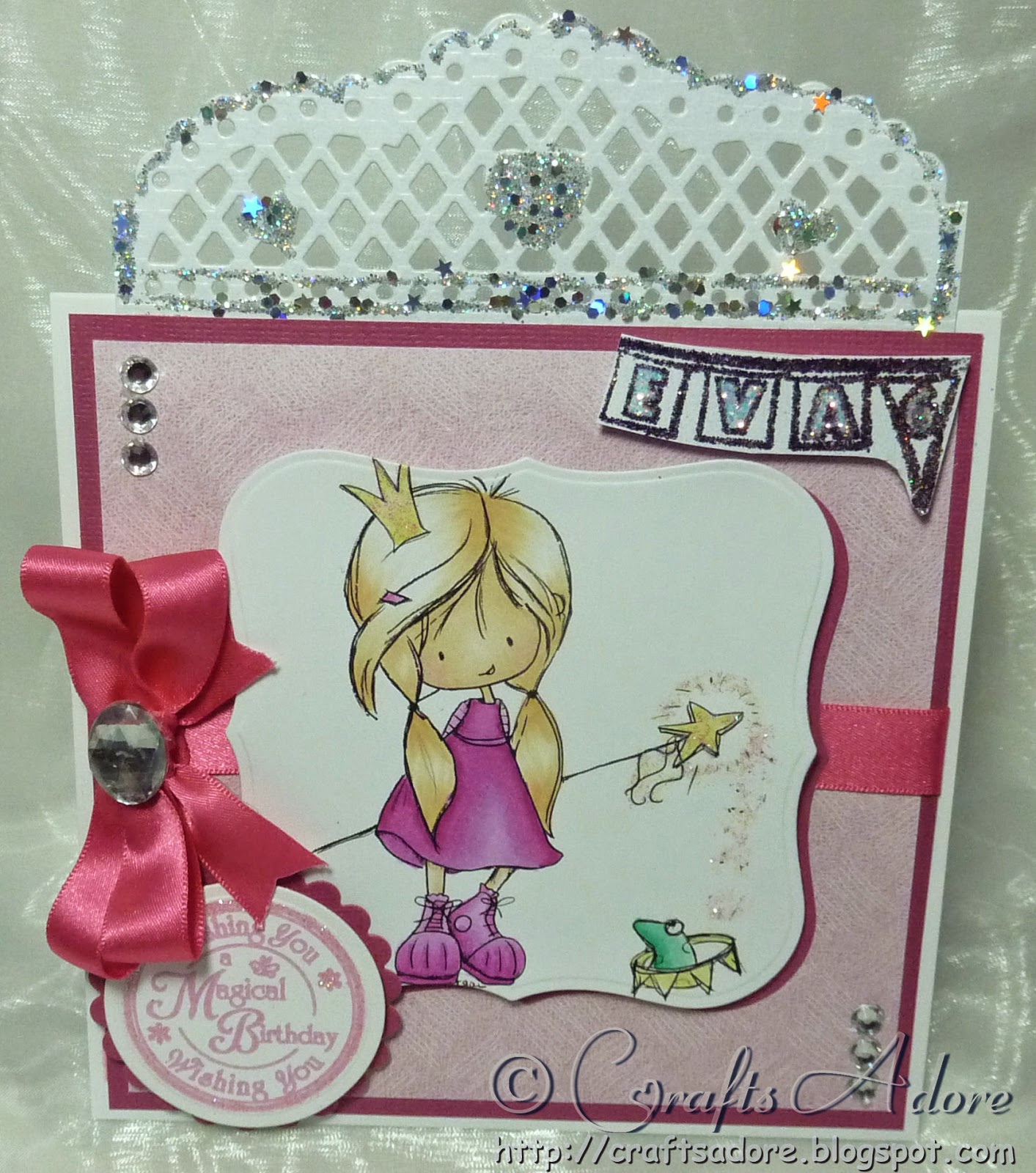 Tiddly Inks Wryn Princess Birthday Card