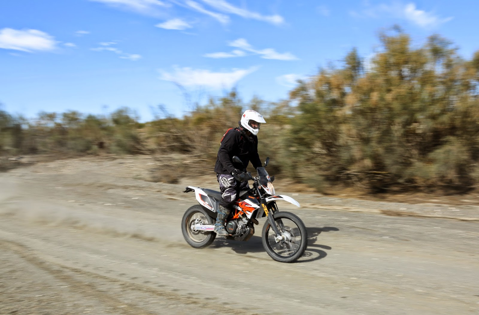 Having fun with the KTM 690