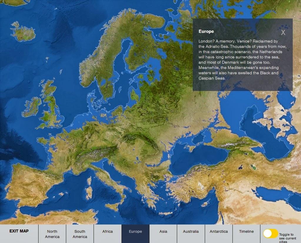 Harta interactiva incalzire globala - Rising Seas interactive map