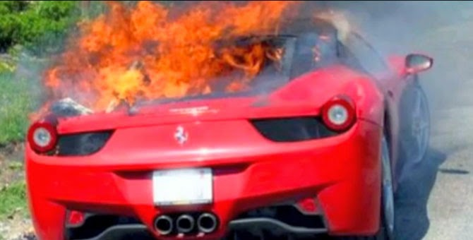 Watch These Supercars On Fire Motor Heads Car Blog