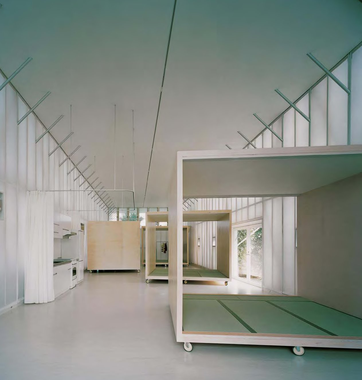 Architecture interior design naked house saitama for Architecture ephemere shigeru ban