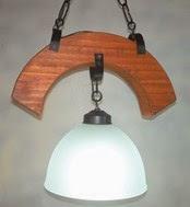 lámpara rustica estilo campo