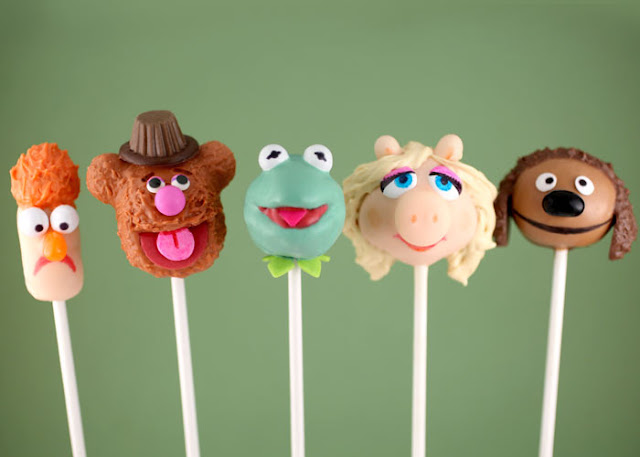 Muppet movie party collage Muppet cakepops