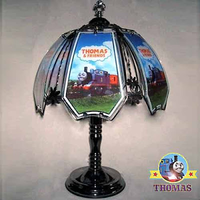 Elegant ornamental Thomas the Train black chrome touch lamp a delight for all Thomas the engine fans