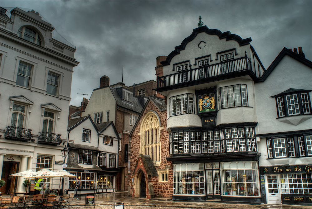 Cute Town of Exeter, England