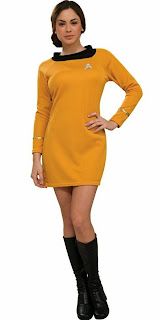 Star Trek Classic Gold Dress Deluxe AdultCostume