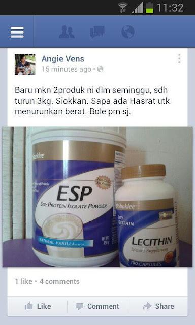 Turun berat badan dengan lecithin dan ESP