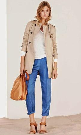 roupa mulher Massimo Dutti primavera verão 2014 gabardina calças jacquard mala