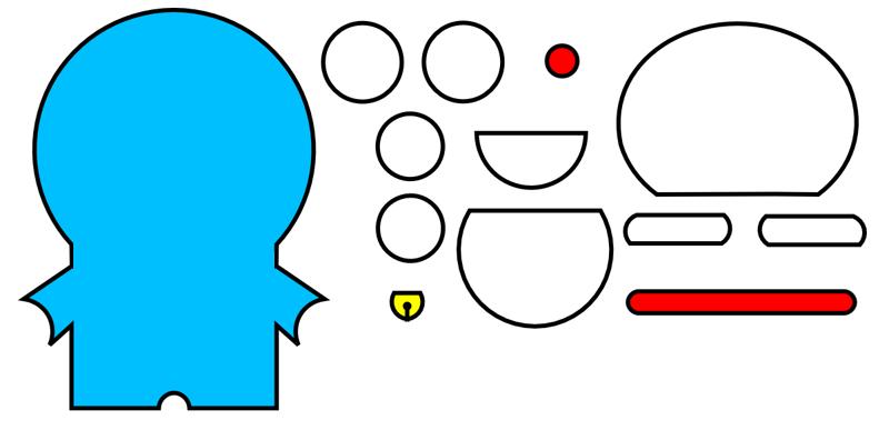 Micronicho: Patrón de fieltro de Doraemon para imprimir