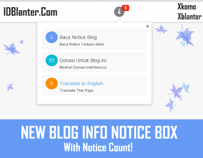 New Blog INfo Notice Box With Notice Count
