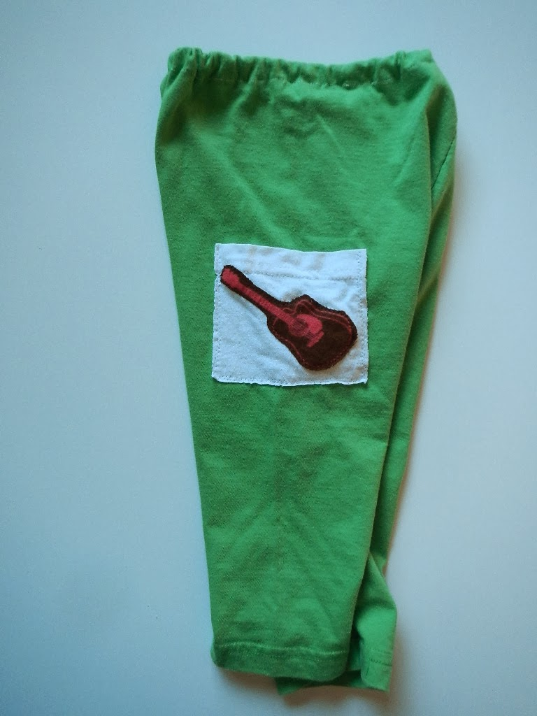 DIY sewing a pair of upcycled repurposed tshirt baby toddler kids pants