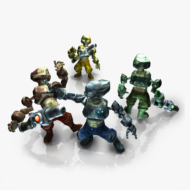 Cyborg games characters in team colours available to buy
