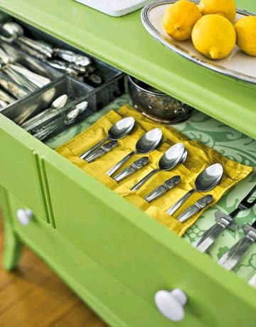 Dresser Drawers Make Great Kitchen Storage Image From Country Living