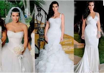 Dark hair may also be a Kim Kardashian Wedding Reception Hair