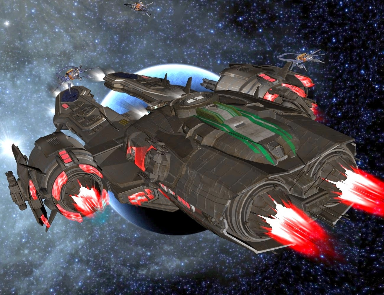 UEF Arachnid Class Destroyer Escort Texture Pack