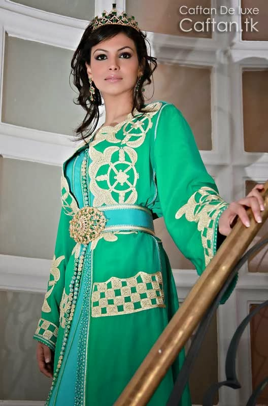 robe marocaine de mariage verte 2014. Black Bedroom Furniture Sets. Home Design Ideas