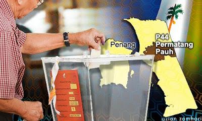 PRKPermatangPauh Pusat Undi Ditutup Hanya 73 Keluar Mengundi