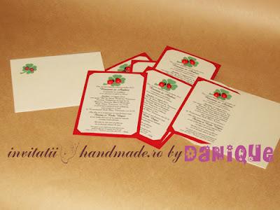 invitatii de nunta handmade cu buburuze