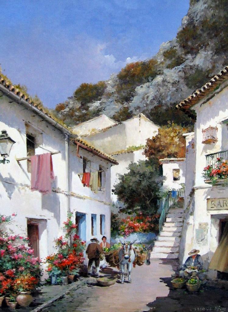 Cuadros modernos pinturas y dibujos paisajes - Paisajes de casas ...