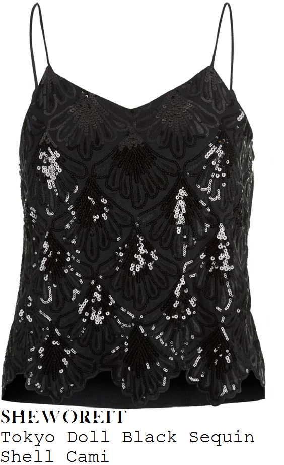 tamera-foster-black-shell-pattern-sequin-embellished-sleeveless-cami-top-x-factor