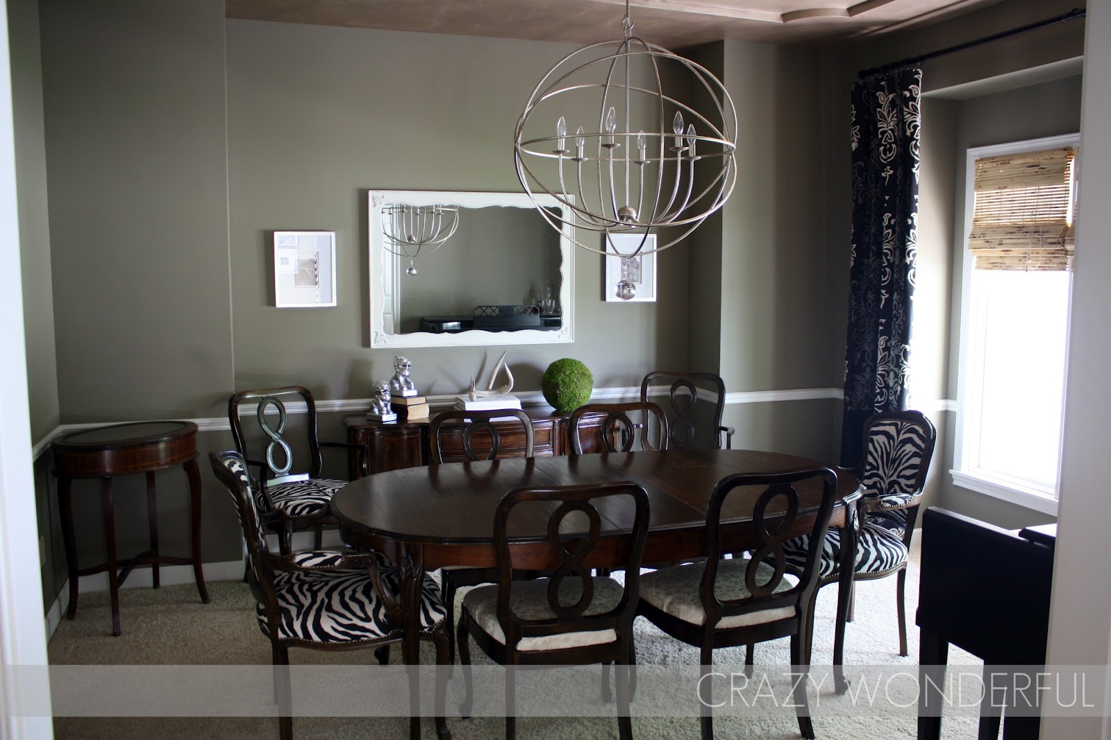 before i color my dining room crazy wonderful