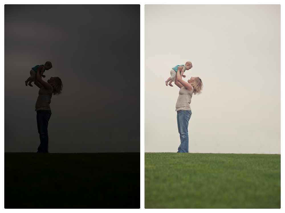 Beautiful mom and baby girl portrait at Staring Park in Eden Prairie by High Heel Photography.