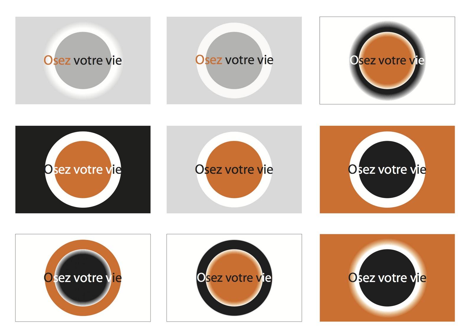 Planches De Recherches Aux Couleurs Du Site Internet Noir Blanc Orange Et Gris