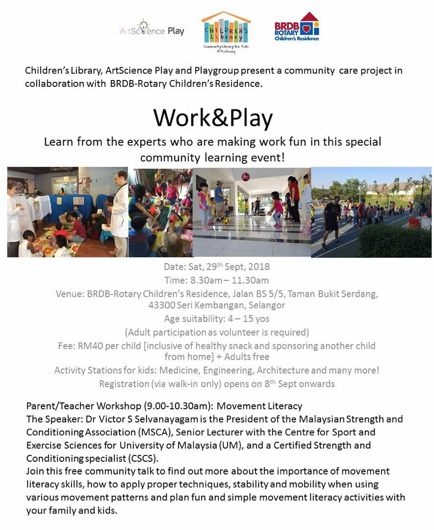 Work & Play Event on 29 Sept 2018