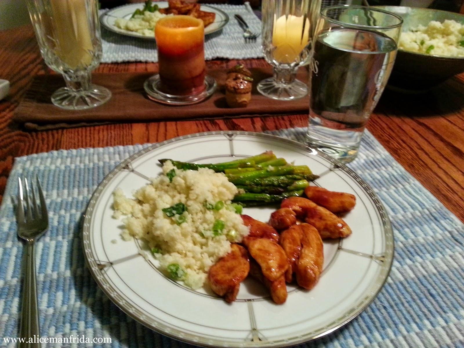 Alice Cooks, cauliflower recipe, side dish