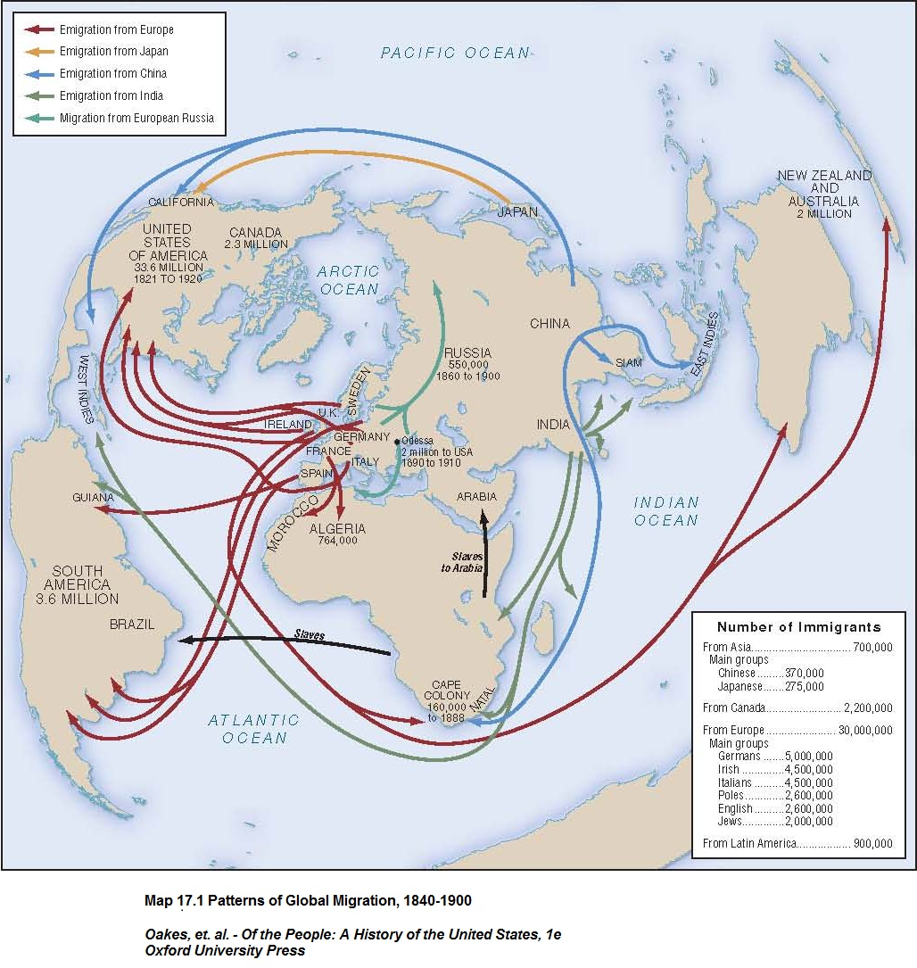 Migratory Flows To The United States Maps And Line Graphs All - Us map immigration as oof 1900