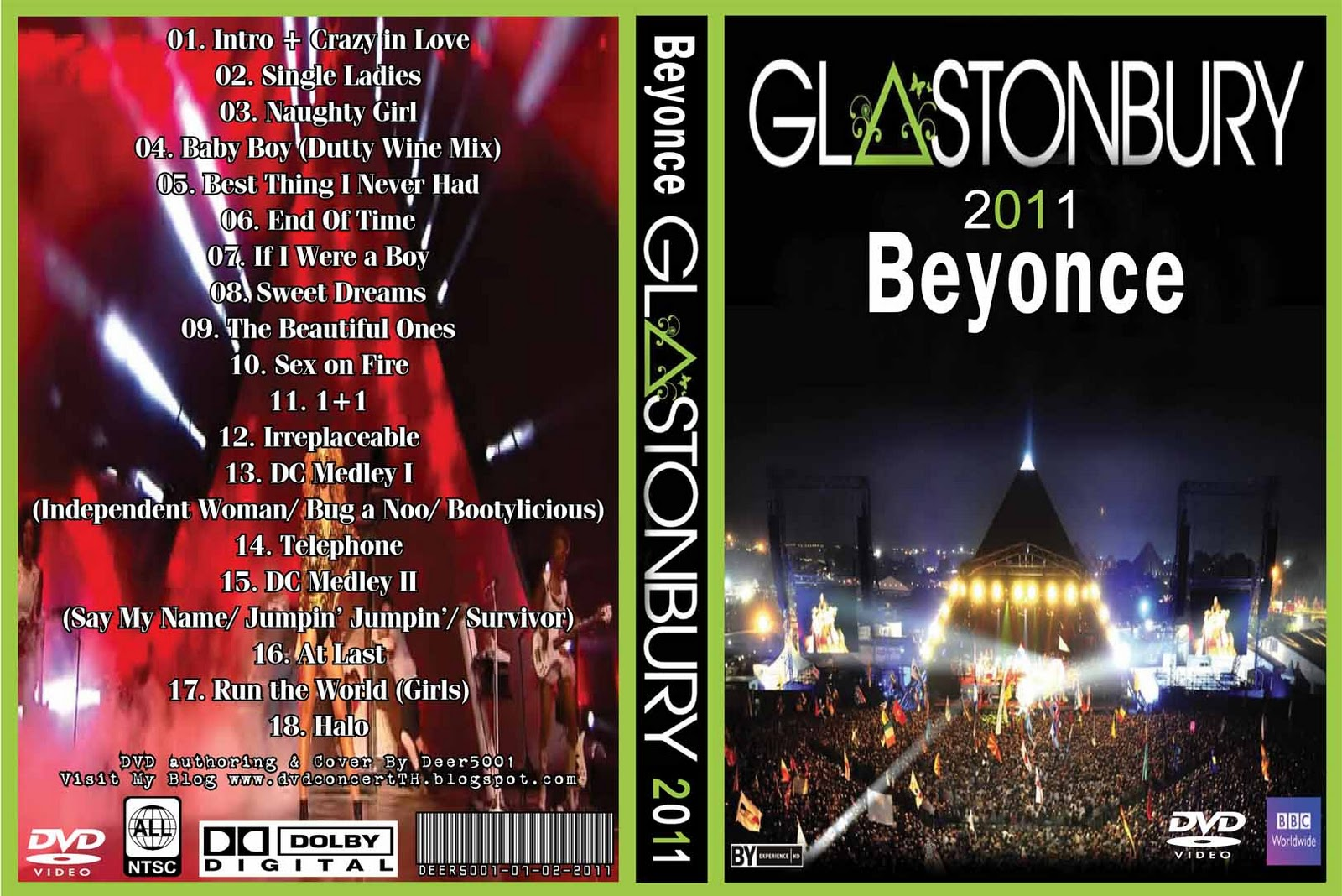 DVD Concert TH Power By Deer 5001 Beyonce 2011 Live