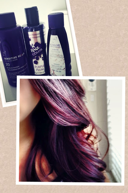 London Lilac Hair Color Over Dark Red Hair | HAIRSTYLE GALLERY