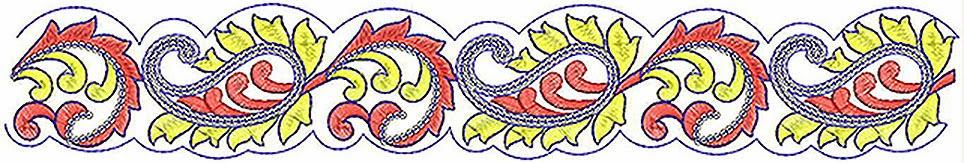 Paisley figuur ontwerp Kant grens