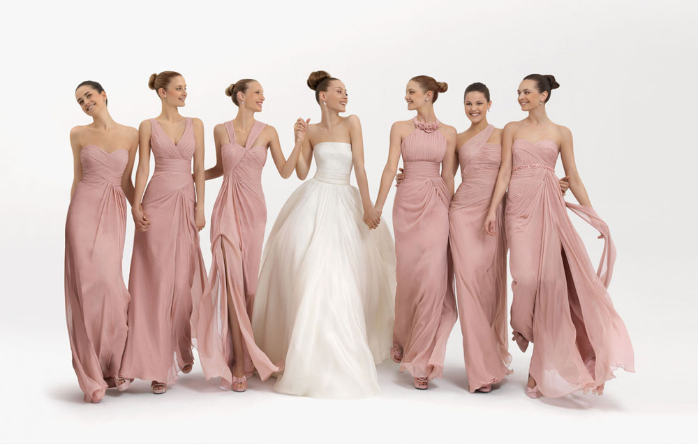 Some Models Dress Women: Long Style Bridesmaid Dresses From Rosa Clara