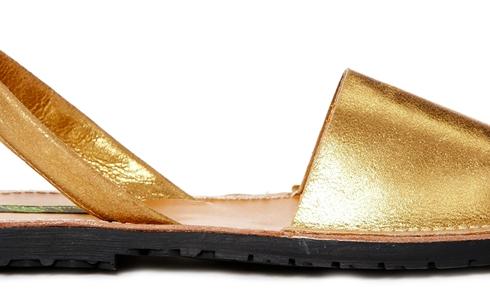 ASOS Park Lane Gold Leather Sling Flat Sandal