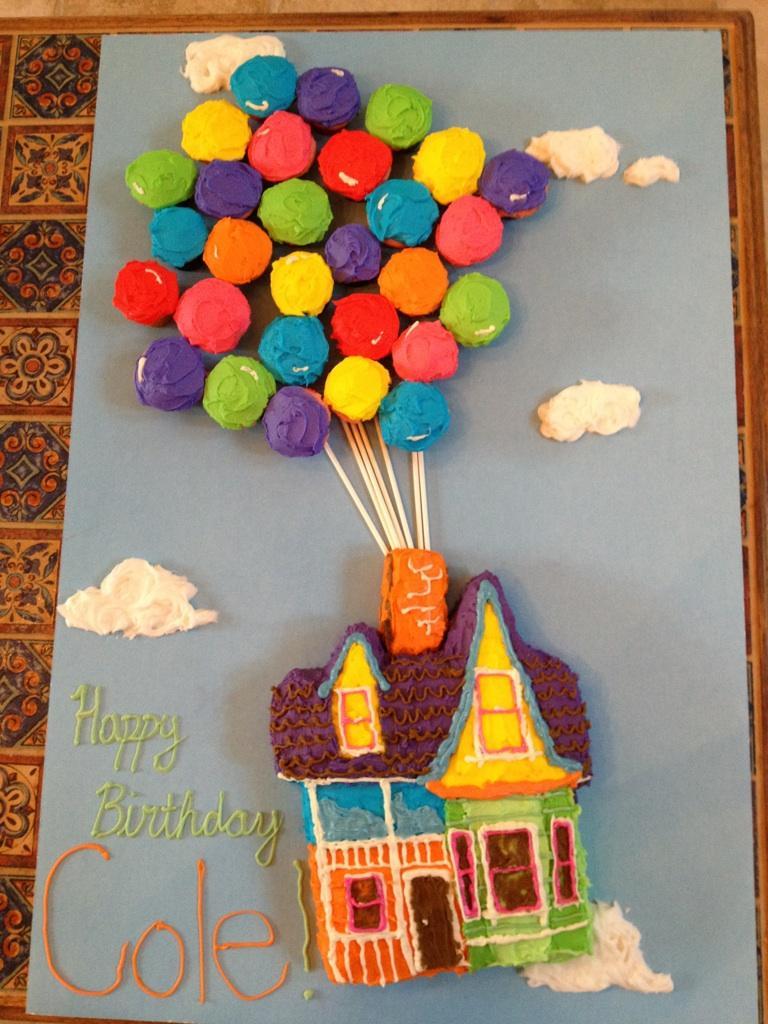 La Vie En Turquoise Up Birthday Cake